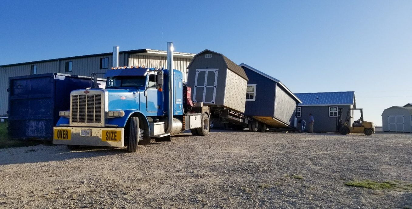 Moving a portable storage shed near lott texas