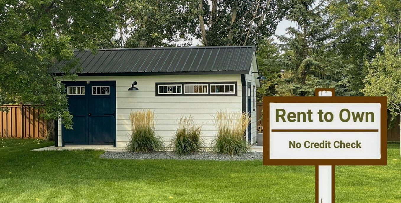 Rent to own portable storage building in texas