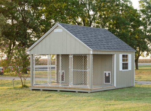 Beautiful wood dog kennel structure
