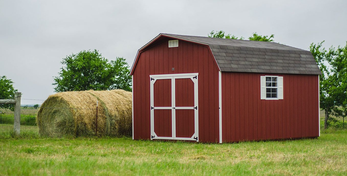 Dutch barn storage sheds made by lone star structures in texas