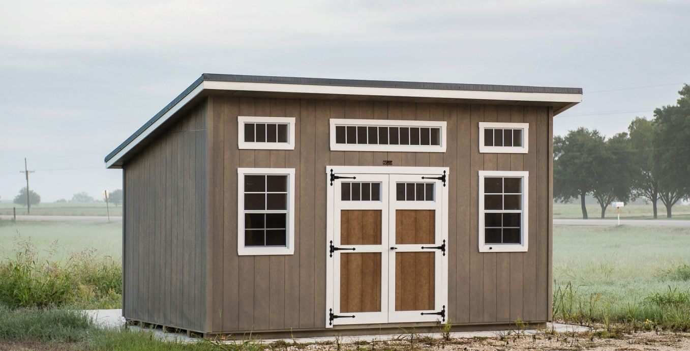 Studio shed for sale in austin texas made by lone star structures