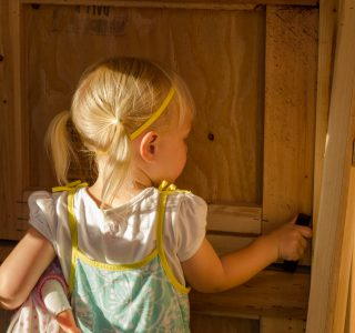 Child latching door in kids playhouses for sale near houston