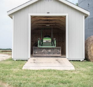 Shed with ranch door