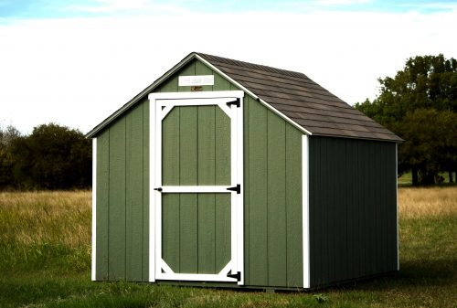 8x 10 utility sheds with sage color