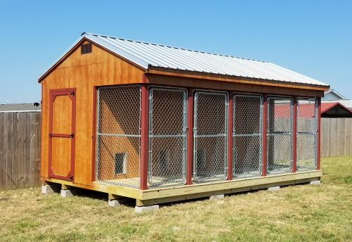 Large outdoor dog kennel for sale in texas