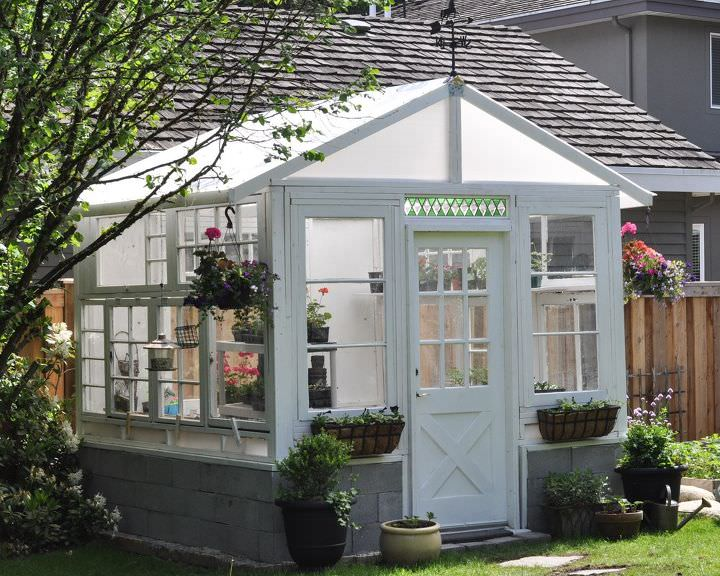Build a greenhouse from vintage windows gardening home improvement outdoor living