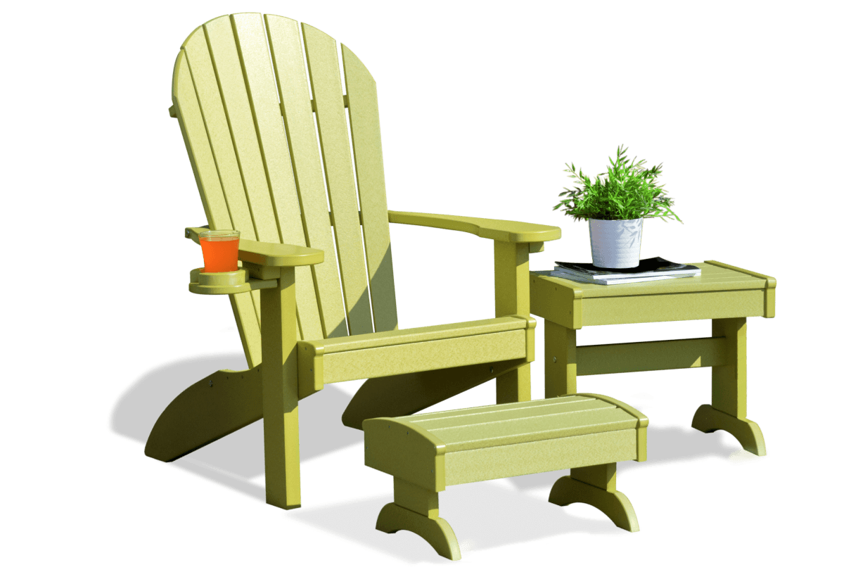 Deck furniture adirondack deluxe set lime green 5 2