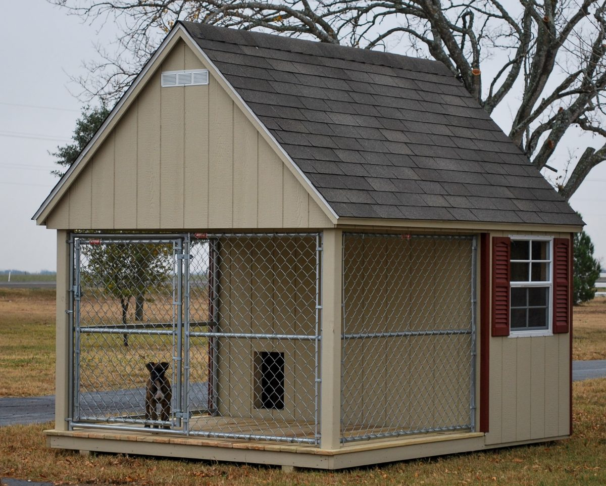 Dog kennels for sale provide a year round home for your dog for Dog kennel layouts