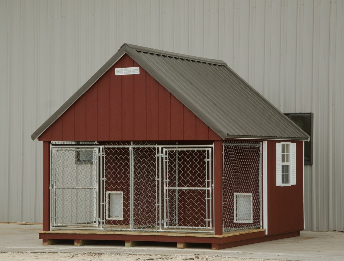 Dog kennels for sale provide a year round home for your dog for Dog home boarding near me