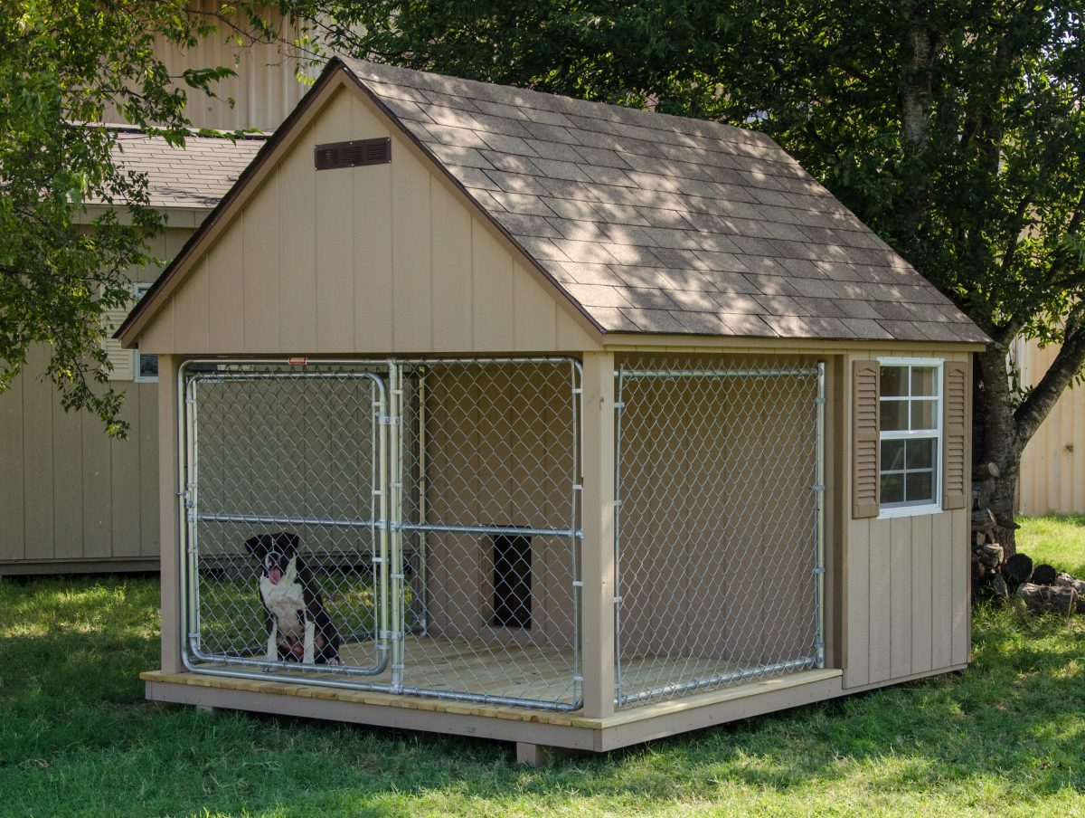 Dog kennels for sale provide a year round home for your dog for The dog house kennel