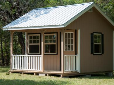 Cabin shed side porch