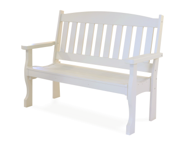 Patio furniture english garden bench ivory 2