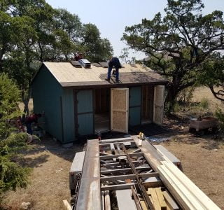 On site sheds built company in texas