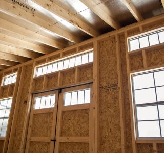Studio shed interior for sale in temple texas