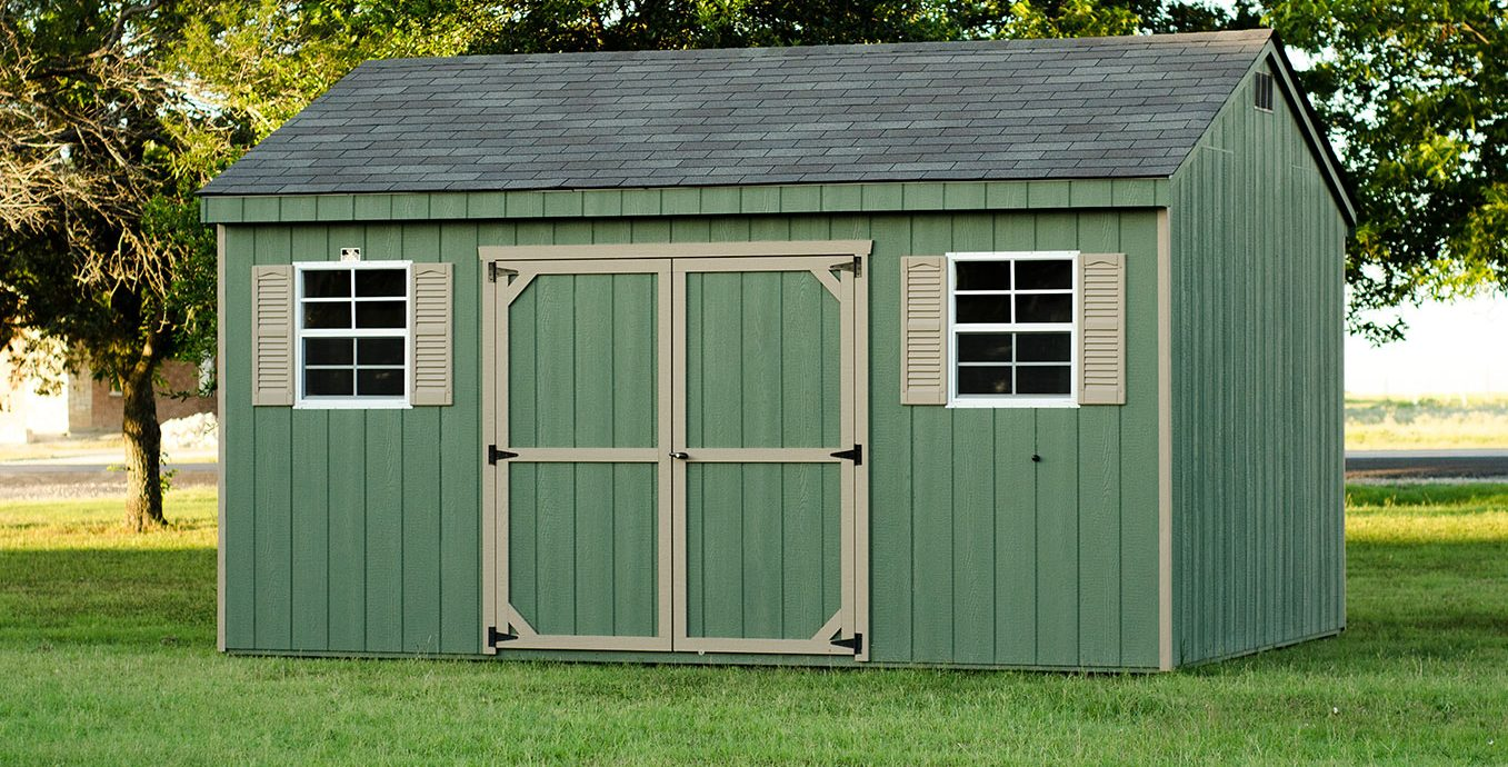 Wood storage sheds from lone star structures in lott texas